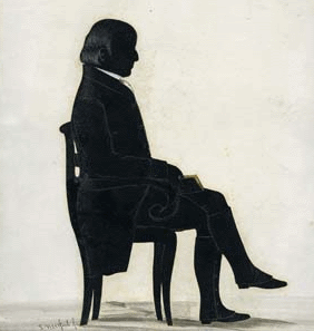 Typical Quaker silhouette: Friends were generally forbidden from the vanity of real portraits